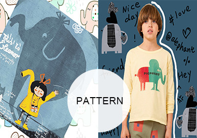 Cute Elephants -- A/W 20/21 Pattern Trend for Kidswear