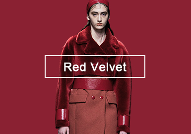 Red Velvet -- A/W 20/21 Single Color Trend for Women's Fur and Leather
