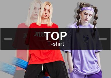 T-Shirt -- S/S 2019 Popular Items in Womenswear Markets