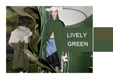 Lively Green -- A/W 20/21 Color Evolvement Trend for Women's Coats