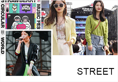 Directional and Elegant -- Comprehensive Analysis of Street Snaps in 2019 Strawberry Music Festival
