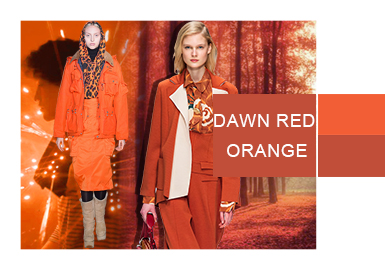 Dawn Red Orange -- Evolution of Womenswear Colors
