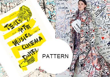 Rebellious Hand Scrawls -- Pattern Trend for Womenswear