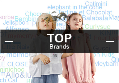 Top 20 -- Popular Brands at Kidswear Retail Markets in the First Half of 2019