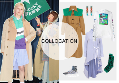 Original Style-- Womenswear Trench Coat Clothing Collocation
