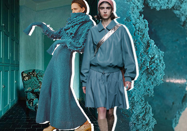 Ceramic Blue -- Theme Color Trend for Womenswear