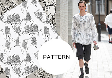 Line Doodles-- The Pattern Trend for Menswear