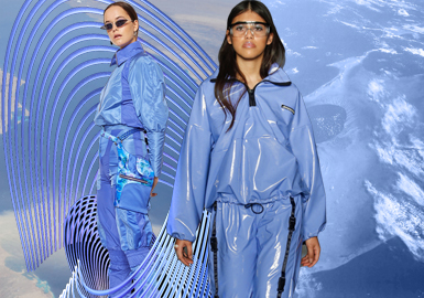 Surface Blue-- Theme Color Trend for Womenswear