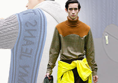 Diversified Splicing- The Craft Trend for Men's Knitwear