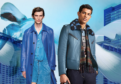 Blue Heaven -- Color Evolution of Men's Leather and Fur