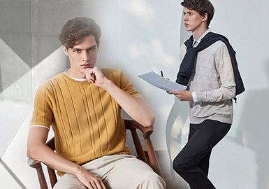 Architecture and Shadow -- Ports The Benchmark Brand of Men's Knitwear