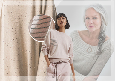 Elegance and Delicacy -- The Comprehensive Analysis of Women's Knitwear from The Mature Lady Style Benchmark Brands