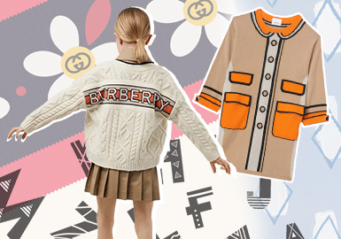 Simplified Classic Elements -- The Pattern Trend for Girls' Knitwear