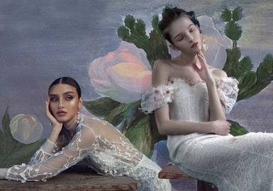 Blossom Season -- The Craft Trend for Women's Wedding Dress