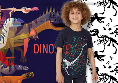 Changeable Dinosaur -- The Pattern Trend for Kidswear