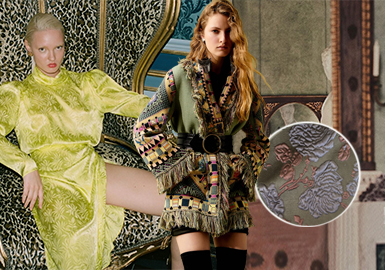 Soft and Retro -- The Jacquard Fabric Trend for Womenswear