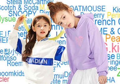 The Analysis of TOP 20 Popular Brands of Girls' Sweatshirts in the First Quarter