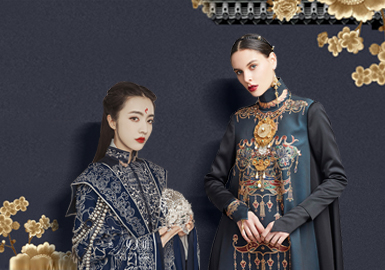 Charm of The Ancient -- The Embroidery Pattern Craft Trend for Women's Chinese Style Formal Dress