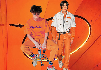 Orange Tiger -- The Thematic Color Trend for Menswear