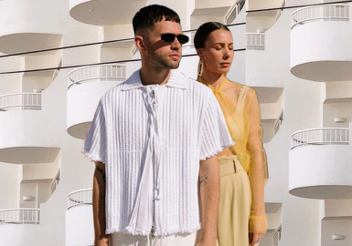 Tone-on-Tone Styling -- Couples' Looks of Alice Barbier & js Roques