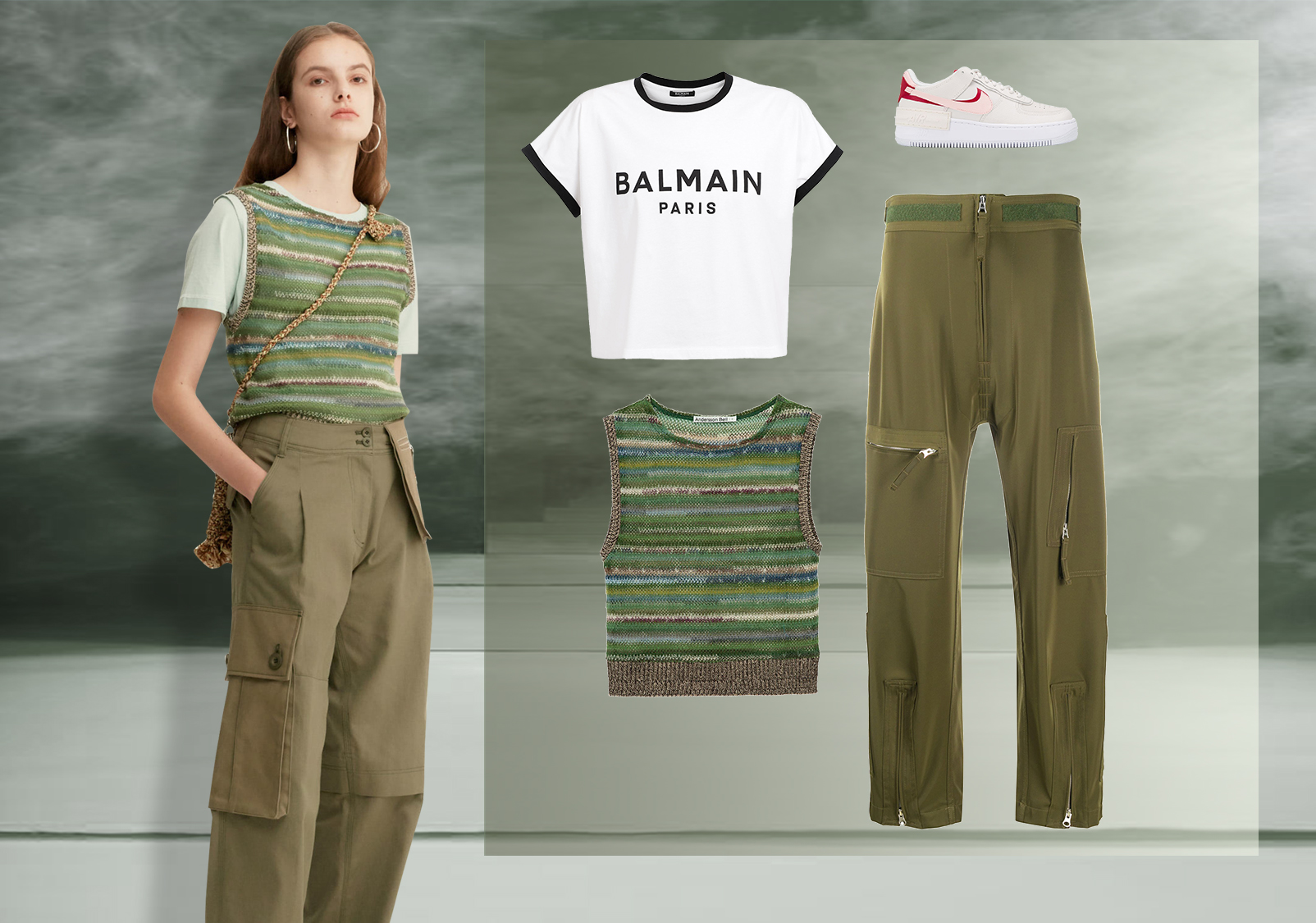 Styling of High-Waist Trousers -- Clothing Collocation for Women's Trousers