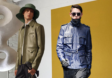 Updated Pockets -- The Craft Detail Trend for Men's Leather Coats