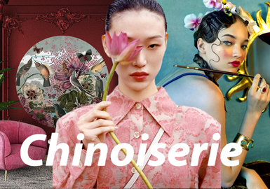 Chinoiserie -- A/W 21/22 Theme Fabric Trend for Womenswear