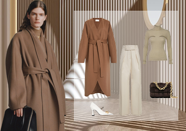 Unfailing Overcoats -- Clothing Collocation for Women's Overcoats