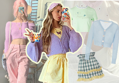 Fashion Bloggers on Instagram -- Styling of Short Cardigans