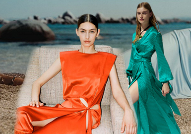 Everyday Luxury -- The Silhouette Trend for Women's Silk Dresses
