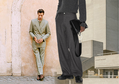 New Business Style -- The Silhouette Trend for Men's Trousers