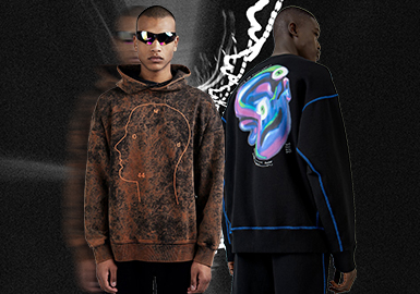 Mixed Focus -- The Silhouette Trend for Men's Sweatshirts