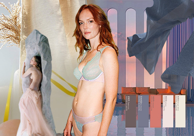 Lithe Grace -- The Color Trend for Women's Underwear and Loungewear