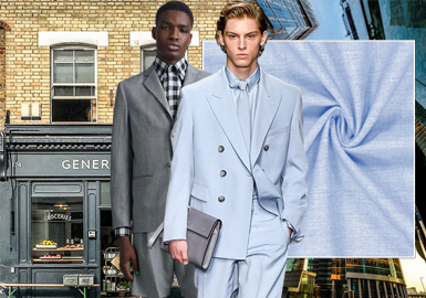 New Worsted Style -- The Fabric Trend for Men's Suits