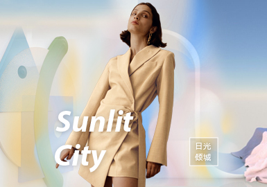 Sunlit City -- The Theme Fabric Trend for S/S 2022 Womenswear