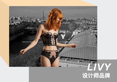 French Sexy -- The Analysis of LIVY The Women's Underwear Designer Brand