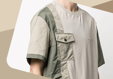 Structure Extension -- The Detail Craft Trend for Men's T-shirt and Sweatshirt