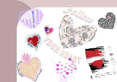 Heart-shape -- The Pattern Trend for Women's Knitwear