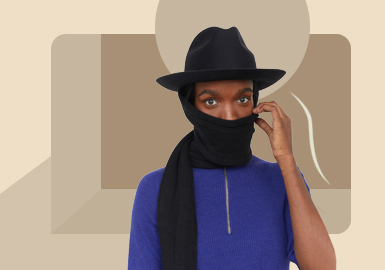 Warm Protection -- The Silhouette Trend for Knit Scarf