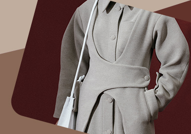 New Placket -- The Craft Detail Trend for Women's Overcoat