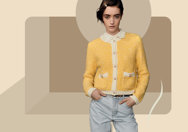 Sweet Looks -- The Silhouette Trend for Women's Cardigan