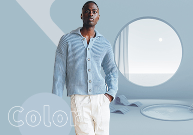 Baby Blue -- The Color Trend for Men's Knitwear