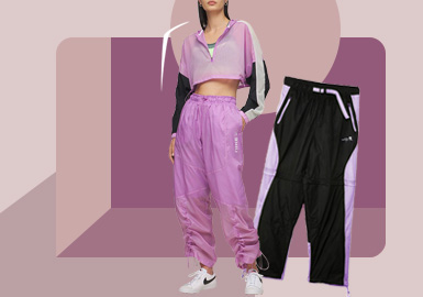 Sport Fashion -- The Silhouette Trend for Trousers