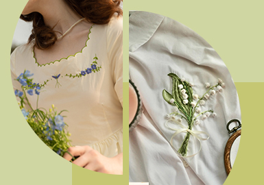 Delicate Placement -- The Pattern Craft Trend for Women's Loungewear