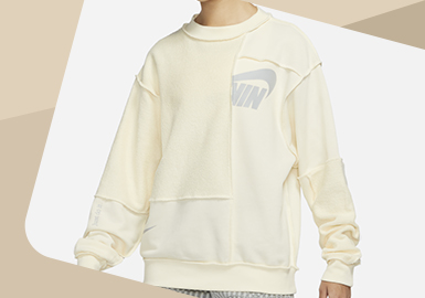 Reconstruction -- The Detail Craft Trend for Sporty Sweatshirt